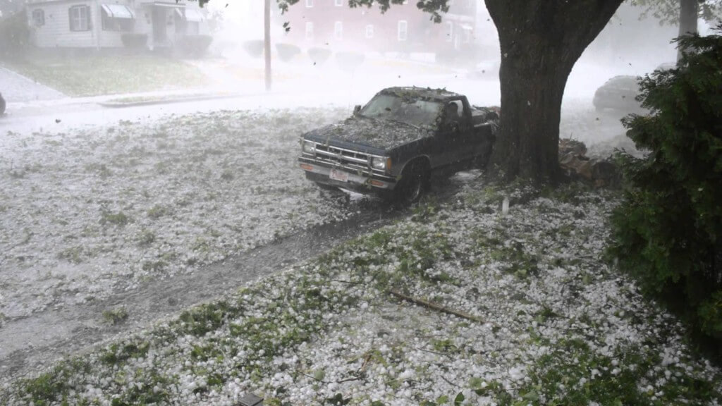 Damaging Fort Worth Hailstorm