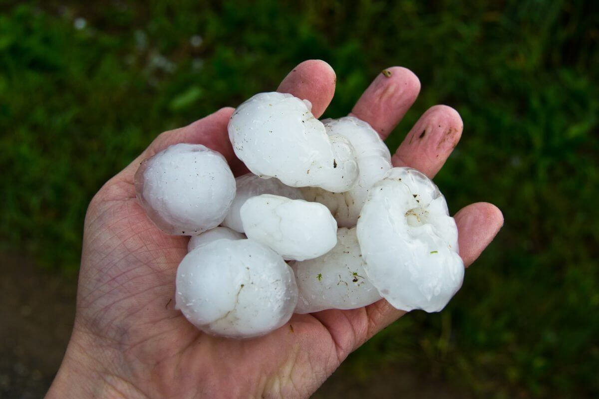 Houston Sees Baseball-Sized Hail