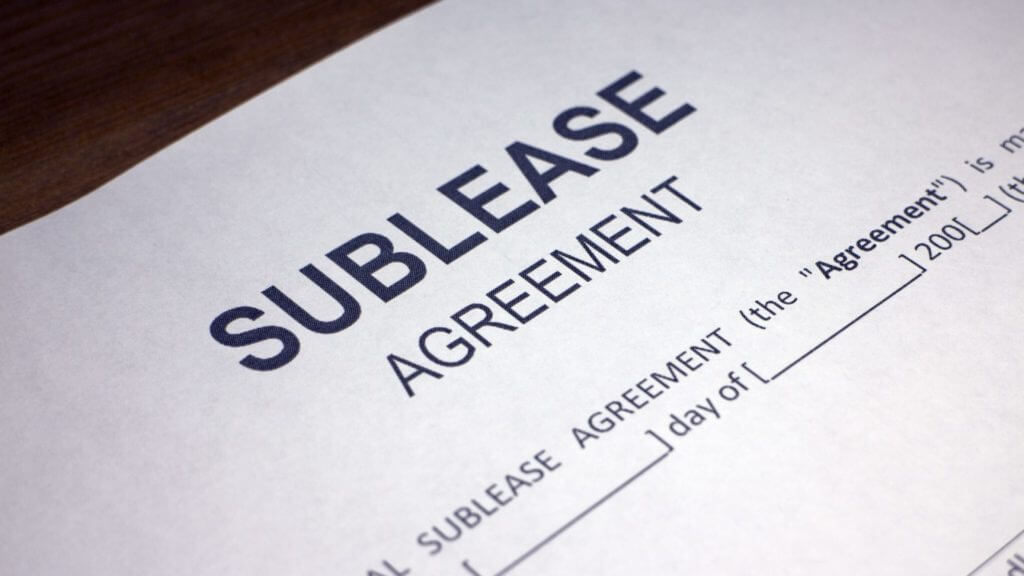 Commercial sublease agreement