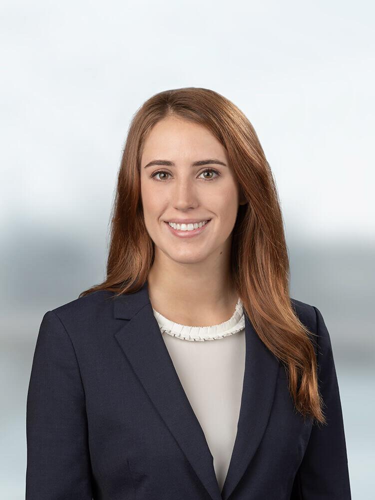 Portrait of Katy Penick, associate attorney at Raizner Slania LLP