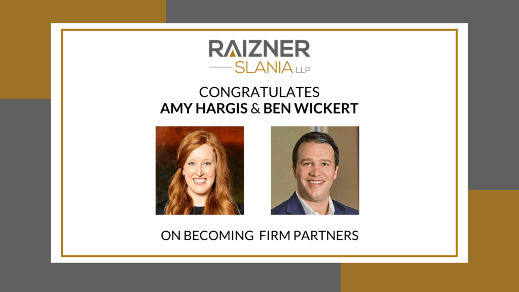 Raizner Law Announces Addition of Amy Hargis and Ben Wickert as Firm Partners